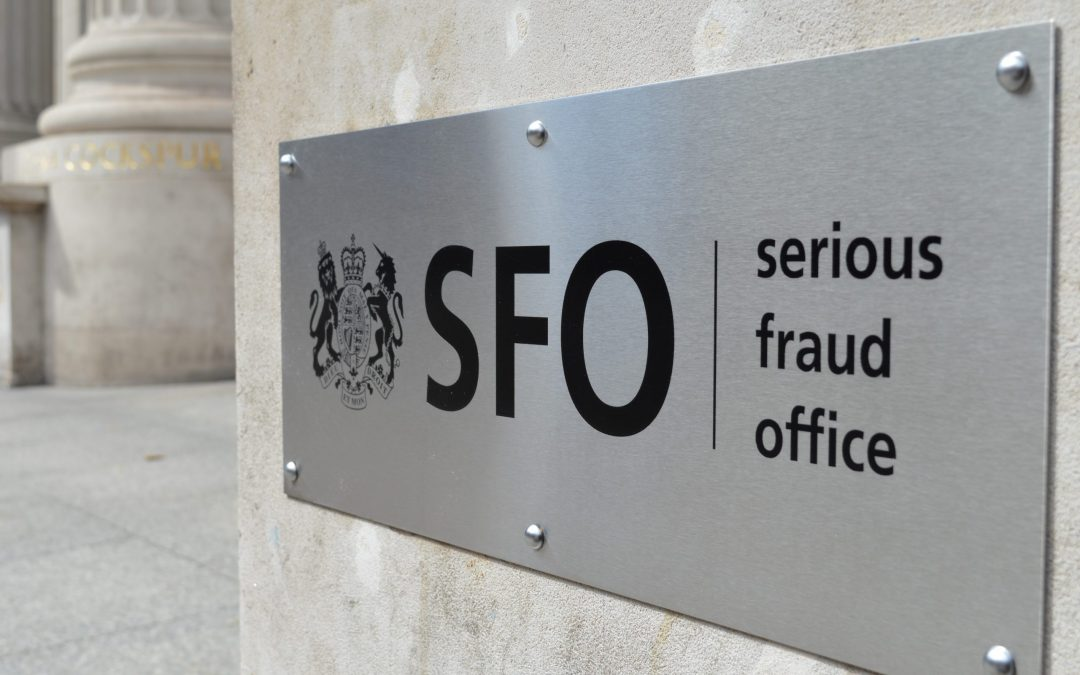 Serious Fraud Office reviews its policies on facilitation payments, business expenditure (hospitality) and corporate self-reporting